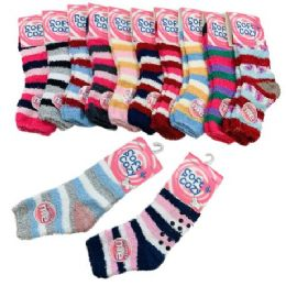 48 Units of Womens Non-Slip Soft & Cozy Fuzzy Socks - Womens Fuzzy Socks