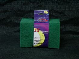 36 Units of 15 Piece Scouring Pads - Scouring Pads & Sponges