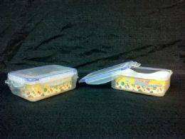 36 Units of Click Lock Container Rectangle Wide - Food Storage Containers
