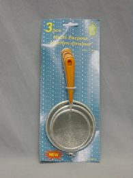 36 Units of 3 PIECE MINI DELUXE STRAINER - Strainers & Funnels