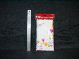36 Units of 100 PIECE INDIVIDUALLY WRAPPED STRAW - Straws and Stirrers