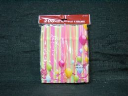 36 Units of 200 Pieces Straws Neon Color - Straws and Stirrers