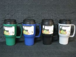 36 Units of Plastic Travel Mug 16 Ounce - Coffee Mugs