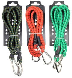 72 Units of 8mm Bungee Cord With Hiking Hooks - Bungee Cords