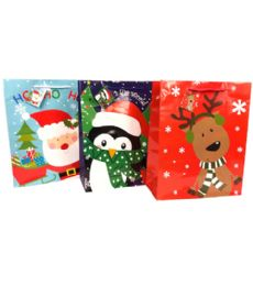 144 Units of Christmas Large Gift Bag - Christmas Gift Bags and Boxes