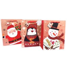 192 Units of Medium Glossy Christmas Gift Bag - Christmas Gift Bags and Boxes