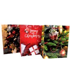 192 Units of Medium Christmas Gift Bag - Christmas Gift Bags and Boxes