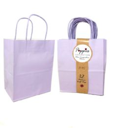 30 Units of 12 Count Medium Lavender Craft Bag With Band - Gift Bags