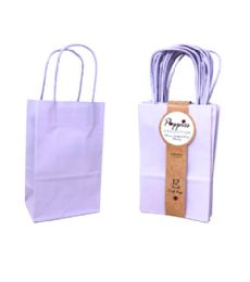 30 Units of 12 Count Small Lavender Craft Bag With Band - Gift Bags