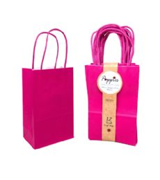 30 Units of 12 Count Small Magenta Craft Bag With Band - Gift Bags