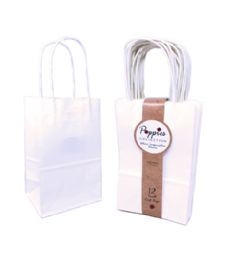 30 Units of 12 Count Small White Craft Bag With Band - Gift Bags