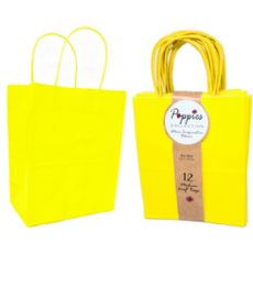 30 Units of 12 Count Medium Yellow Craft Bag With Band - Gift Bags