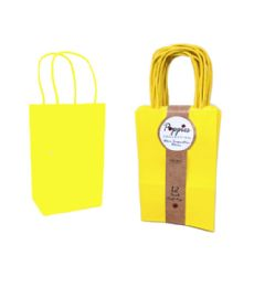 30 Units of 12 Count Small Yellow Craft Bag With Band - Gift Bags