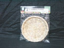 36 Units of 2 PIECE BAMBOO TRAYS - Serving Trays