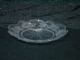36 Units of CLEAR TRAY ROSE RD PLATE - Serving Trays