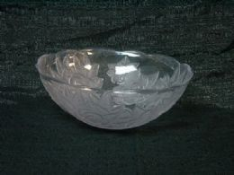 36 Units of CLEAR TRAY ROSE ROUND BOWL - Serving Trays
