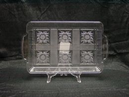36 Units of PLASTIC CLEAR TRAY RECTANGLE WITH HANDLE - Serving Trays