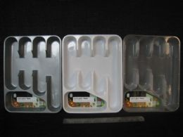 36 Units of PLASTIC CUTLERY TRAY ASSORTED COLOR - Kitchen Utensils