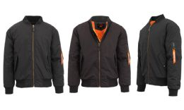 12 Units of Men's Heavyweight MA-1 Flight Bomber Jackets Black Size Small - Men's Winter Jackets