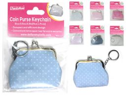 288 Units of Polka Dot Coin Purse Keychain - Coin Holders & Banks