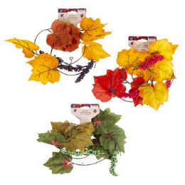 48 Units of 4ft Fall Garland Leaf - Halloween & Thanksgiving