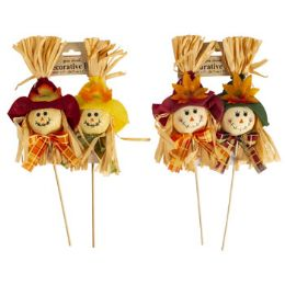 48 Units of 2pk Scarecrow Pick - Home Decor