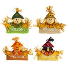 72 Units of Scarecrow Welcome Sign - Home Decor