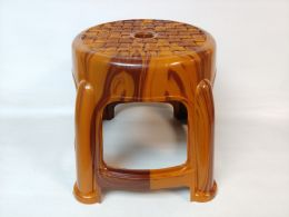 30 Units of PLASTIC STOOL WOOD FINISH - Home Accessories