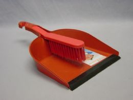 48 Units of Dustpan Brush With Rubber - Dust Pans