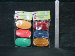 36 Units of PLASTIC 3 PIECE OVAL BRUSHES - Cleaning Products