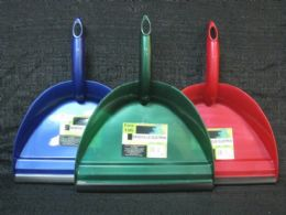 36 Units of Plastic Handheld Dustpan With Rubber - Dust Pans