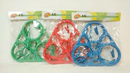 24 Units of Hanger 15 Clips Assorted Color - Hangers
