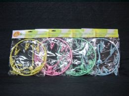 36 Units of PLASTIC CLOTH HANGER ROUND W 9 PIECE CLIP - Hangers