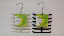 24 Units of PLASTIC TIE HANGER VELVET BLACK IVY - Hangers