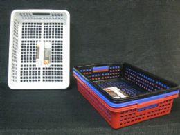 36 Units of BASKET PLASTIC RECTANGLE STACKABLE - Baskets