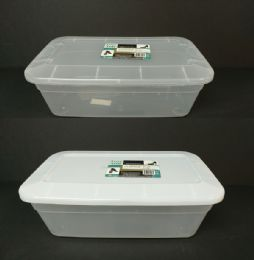 24 Units of Plastic Shoe Box With Lid - Storage & Organization