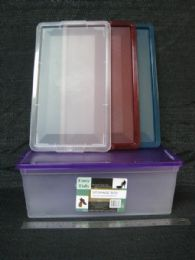36 Units of Plastic Shoe Box Heavy Duty Lock Lid Assorted Colors - Storage & Organization