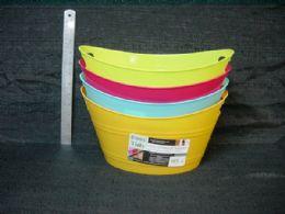 36 Units of Plastic Storage Basket Oval - Storage & Organization