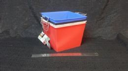 36 Units of Storage Bin Square With Handle Assorted Color - Storage & Organization