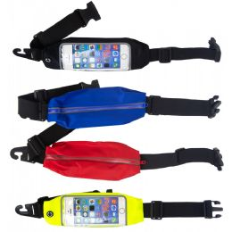 24 Units of Cell Phone Workout Fanny Pack Belt Bags In 4 Assorted Colors - Fanny Pack