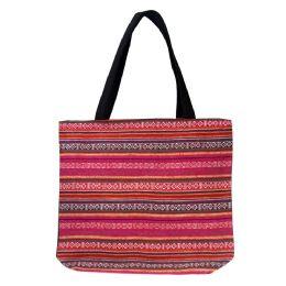 24 Units of Jute Tapestry Bulk Tote Bags In 3 Assorted Styles - Tote Bags & Slings