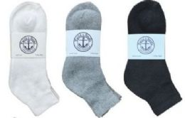 360 Units of Yacht & Smith Men's Cotton Mid Ankle Socks Set Assorted Colors Black, White Gray Size 10-13 - Sock Care Sets
