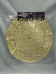 144 Units of TABLE ROUND RUNNER BEIGE GOLD - Table Runner