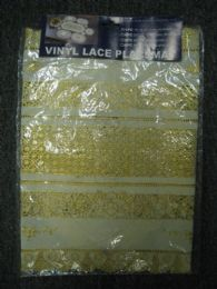 144 Units of VINYL LACE PLACEMAT IVORY GOLD - Placemats