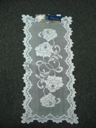 432 Units of White Oblong Lace Table Runner - Table Runner