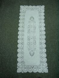 120 Units of Crochet White Lace Table Runner - Table Runner