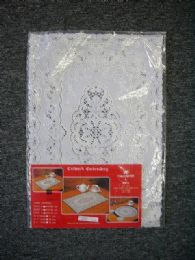 180 Units of 2 PIECE SET OBLONG WHITE SILVER VINYL PLACEMAT - Placemats