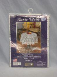 72 Units of VINYL LACE CROCHET TABLECLOTH - Table Cloth