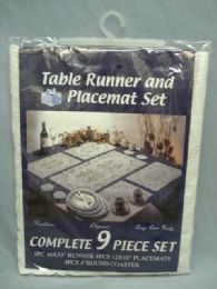48 Units of Table Runner And Placemat Set - Table Cloth