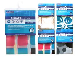 48 Units of Shower Curtain Liner W/magnets - Shower Curtain